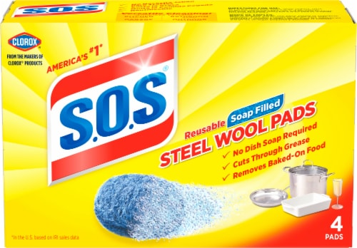 S.O.S. Steel Wool Soap Pads Perspective: front