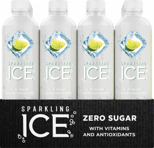Sparkling Ice Lemon Lime Sparkling Water Perspective: front