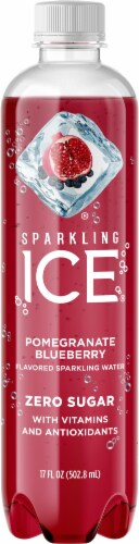 Sparkling Ice Pomegranate Blueberry Sparkling Water Perspective: front