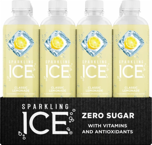 Sparkling Ice Classic Lemonade Sparkling Water Perspective: front