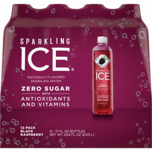 Sparkling Ice Black Raspberry Sparkling Water Perspective: front