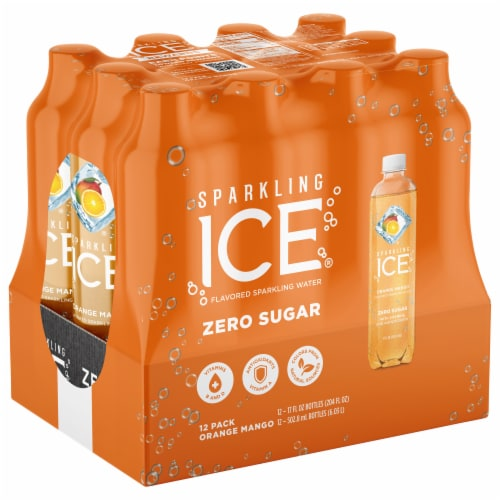 Sparkling Ice Orange Mango Sparkling Water Perspective: front