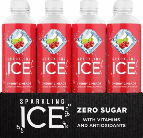 Sparkling Ice Cherry Limeade Sparkling Water Perspective: front