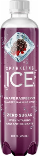 Sparkling Ice Grape Raspberry Sparkling Water Perspective: front