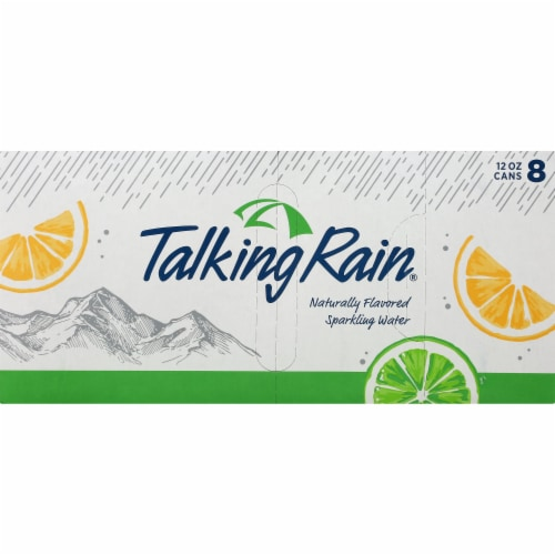 Talking Rain Lemon Lime Sparkling Water 8 Cans Perspective: front