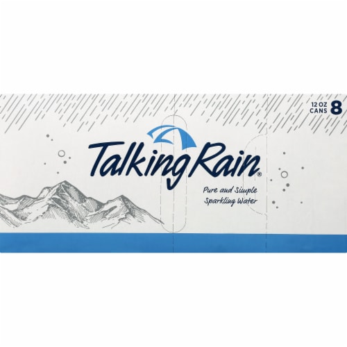 Talking Rain Original Sparkling Water Perspective: front