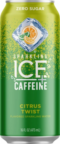 Sparkling Ice + Caffeine Triple Citrus Sparkling Water Perspective: front