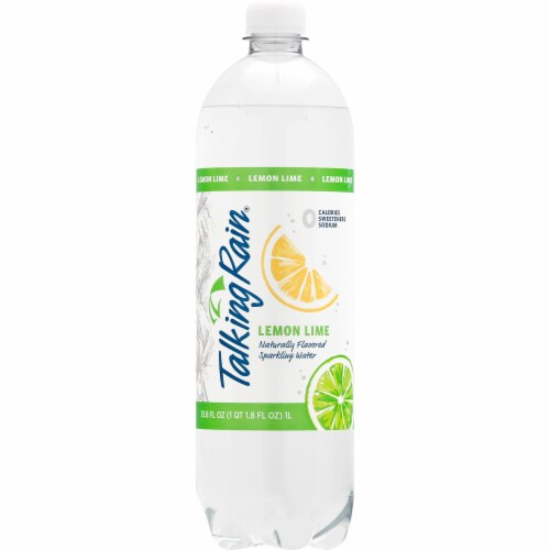 Talking Rain Lemon Lime Sparkling Water Perspective: front