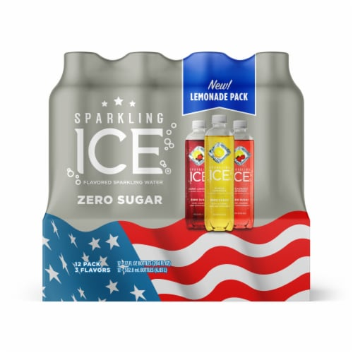 Sparkling Ice Lemonade Flavored Sparkling Water Variety Pack Perspective: front