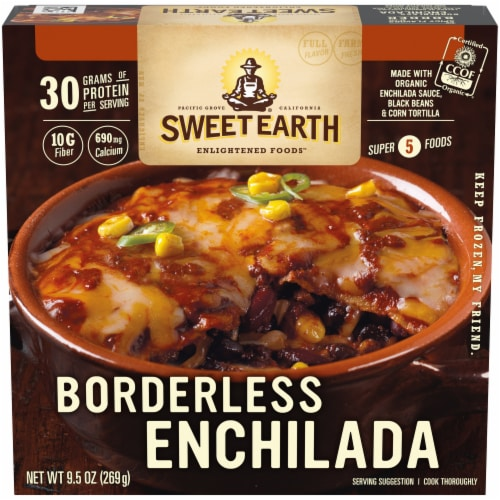 Sweet Earth Borderless Enchilada Frozen Meal Perspective: front