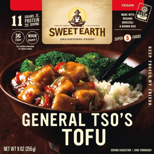 Sweet Earth General Tso's Tofu Frozen Bowl Perspective: front