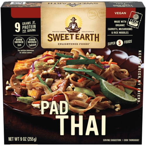 Sweet Earth Pad Thai Frozen Meal Perspective: front