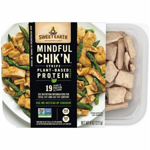 Sweet Earth Plant Based Mindful Chik'n Strips Perspective: front