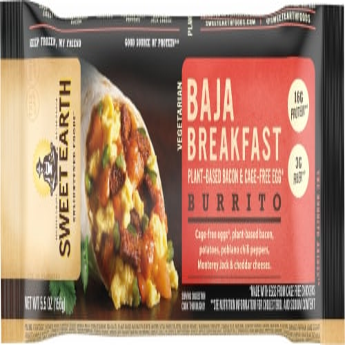 Sweet Earth Natural Food Baja Breakfast Burrito Perspective: front