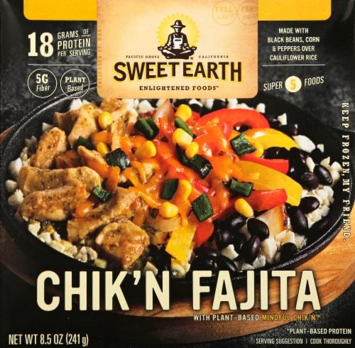 Sweet Earth Chik'n Fajita Frozen Bowl Perspective: front