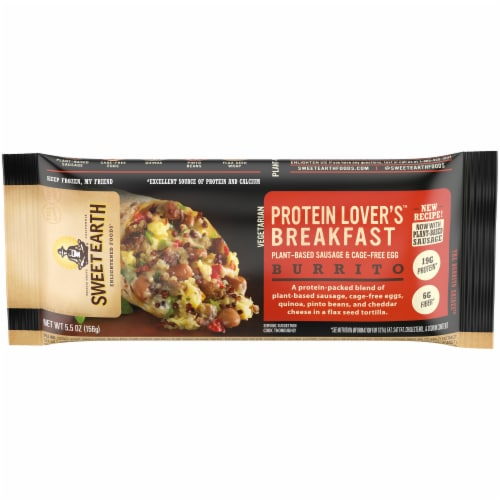 Sweet Earth Protein Lovers Breakfast Burrito Perspective: front