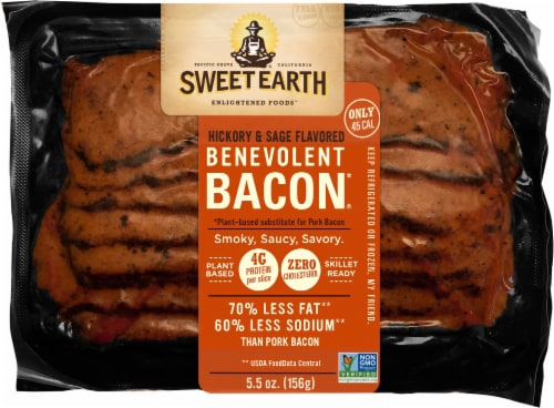 Sweet Earth Natural Foods Vegan Hickory & Sage Smoked Seitan Bacon Perspective: front