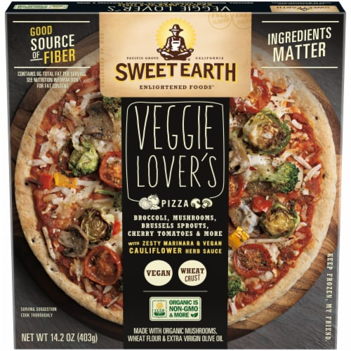 Sweet Earth Veggie Lover's Pizza Perspective: front