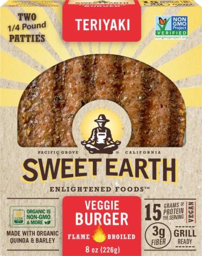 Sweet Earth Natural Foods Vegan Teriyaki Veggie Burger Perspective: front