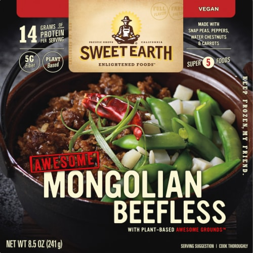 Sweet Earth Awesome Mongolian Beefless Frozen Bowl Perspective: front