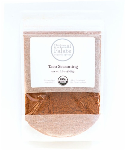 Primal Palate Organic Spices Taco Seasoning Perspective: front