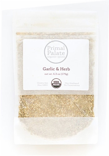 Primal Palate Organic Spices Garlic & Herb Seasoning Perspective: front
