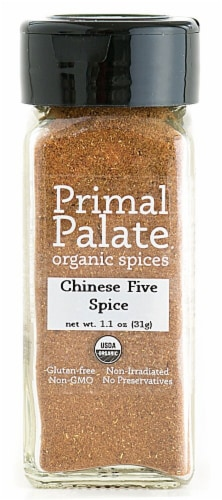 Primal Palate Organic Spices Chinese 5 Spice Perspective: front