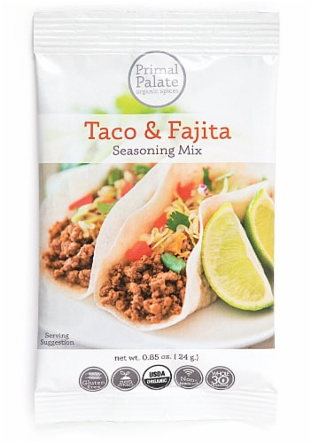 Primal Palate Organic Spices Taco & Fajita Seasoning Perspective: front
