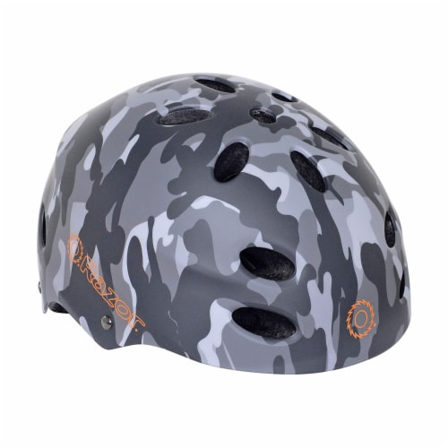 Razor 97866 V-12 Children Youth Safety Multi Sport Bicycle Helmet For Kids, Gray Perspective: front