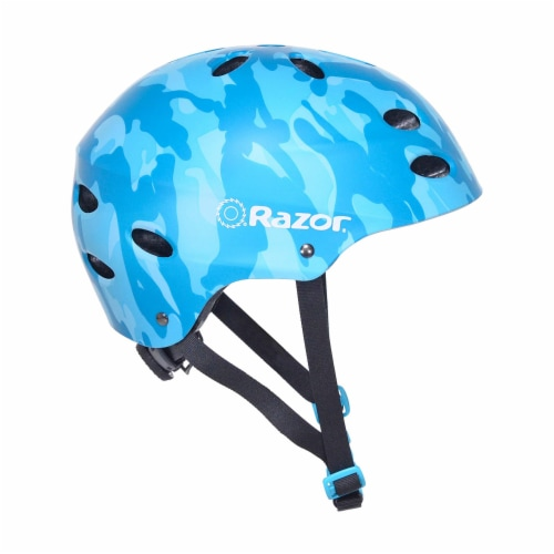 Razor 97869 V-17 Youth Safety Multi Sport Bicycle Helmet For Kids 8-14, Blue Perspective: front