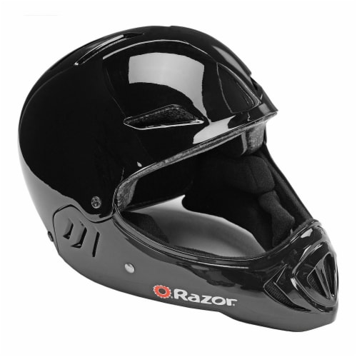 Razor Full Face Child Safety Outdoor Sports Helmet, Gloss Black   97878 Perspective: front