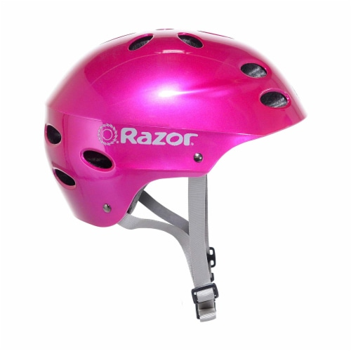 Razor 97956 V-12 Children Youth Safety Multi Sport Kids Bicycle Helmet, Pink Perspective: front