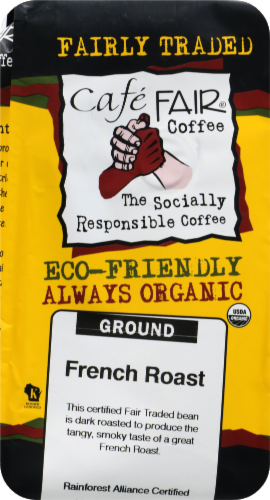 Cafe Fair Organic French Roast Ground Coffee Perspective: front