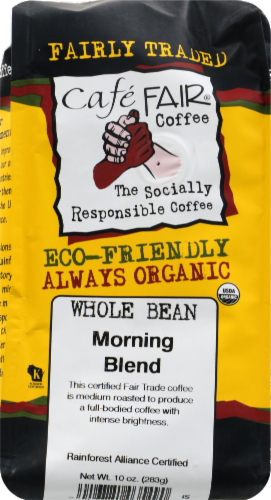 Cafe Fair Morning Blend Whole Bean Coffee Perspective: front