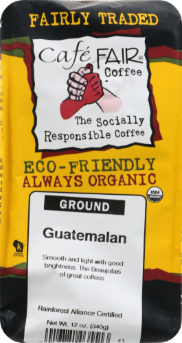 Cafe Fair Guatemalan Ground Coffee Perspective: front