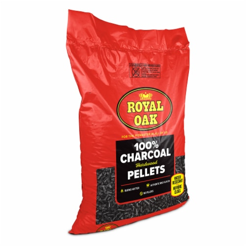 Royal Oak 100 Percent Hardwood Charcoal Pellets for BBQ Grilling, 30 Pound Bag Perspective: front