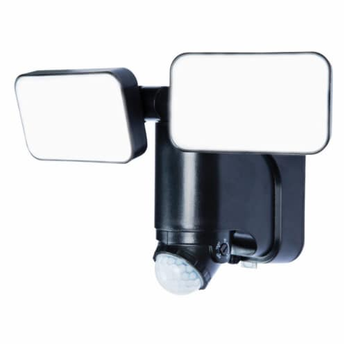 Heath Zenith 3704178 Plastic Solar Powered Motion Sensor Security Light LED - Black Perspective: front