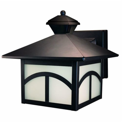 Heathco HZ-4110-OR 180 deg Oil Rubbed Bronze Motion Activated Decorative Lantern Perspective: front