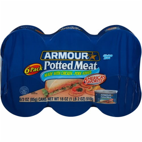 Armour Potted Meat 6 Count Perspective: front