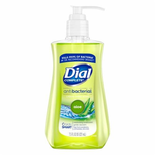 Dial Aloe Antibacterial Liquid Hand Soap Perspective: front