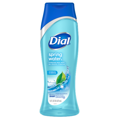 Dial Spring Water Hydrating Body Wash Perspective: front