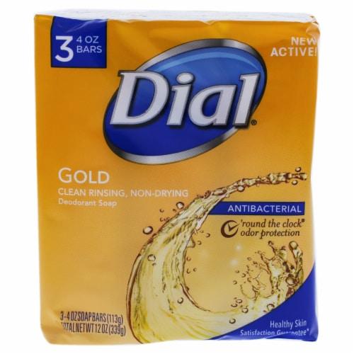 Dial Gold Antibacterial Deodorant Soap Bars Perspective: front
