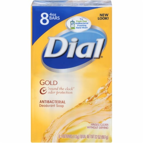 Dial Gold Antibacterial Deodorant Soap Perspective: front