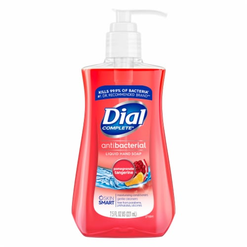 Dial Pomegranate & Tangerine Antibacterial Liquid Hand Soap Perspective: front