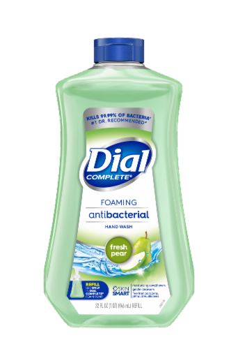 Dial Complete Fresh Pear Antibacterial Foaming Hand Soap Refill Perspective: front