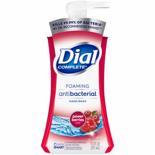 Dial Complete Power Berries Foaming Antibacterial Hand Wash Perspective: front