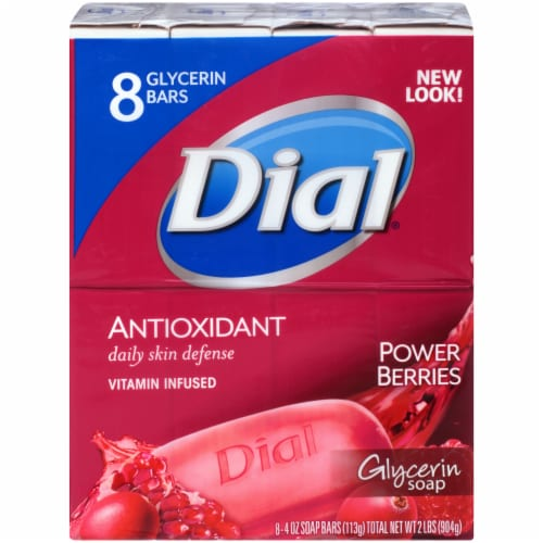 Dial Antioxidant Vitamin Infused Power Berries Glycerin Soap Bars Perspective: front