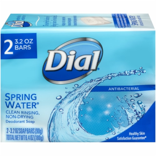 Dial Spring Water Soap Bars Perspective: front