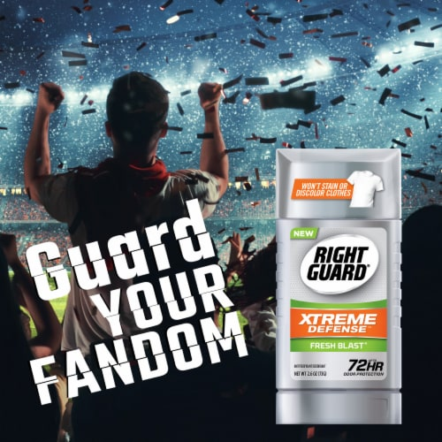 Right Guard Xtreme Defense 5 Fresh Blast Deodorant Stick Perspective: front