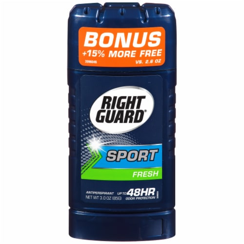 Right Guard 3D Sport Invisible Solid Fresh Deodorant Perspective: front